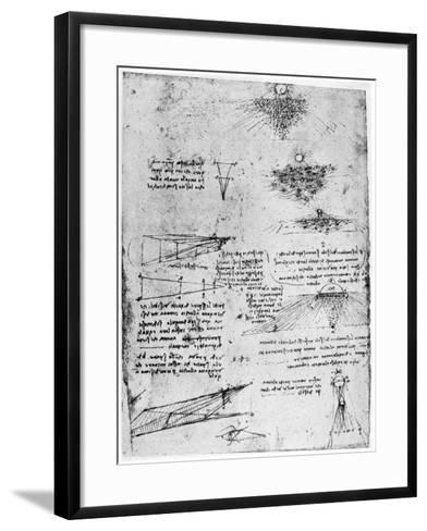 Reflections of the Sun on Water, Late 15th or Early 16th Century-Leonardo da Vinci-Framed Art Print