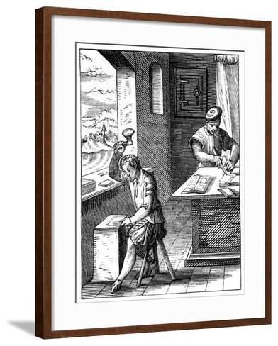 Goldbeater, 16th Century-Jost Amman-Framed Art Print