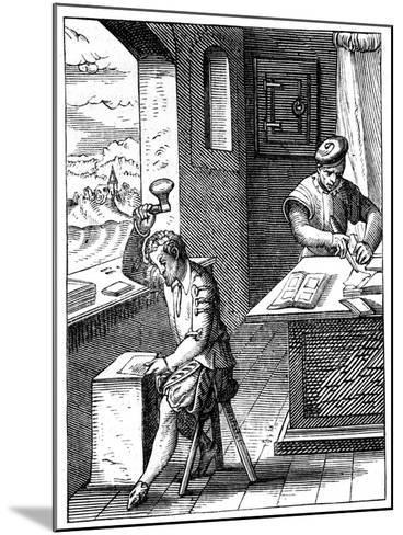Goldbeater, 16th Century-Jost Amman-Mounted Giclee Print