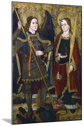 St Michael and Engracia, C1489-C1513-Juan de la Abadia the Younger-Mounted Giclee Print