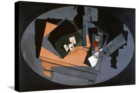 Playing Cards and Siphon, 1916-Juan Gris-Stretched Canvas Print