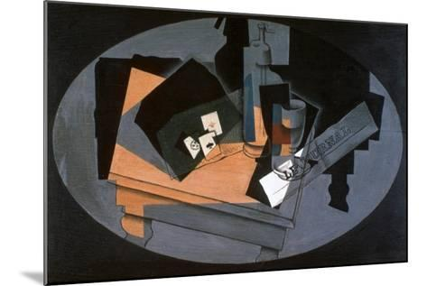 Playing Cards and Siphon, 1916-Juan Gris-Mounted Giclee Print