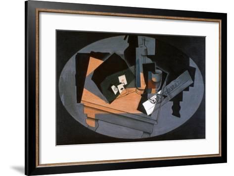Playing Cards and Siphon, 1916-Juan Gris-Framed Art Print
