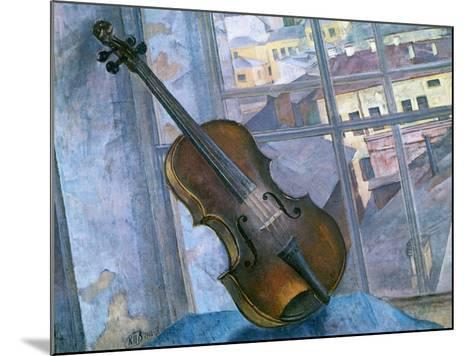 Still Life with a Violin, 1918-Kuz'ma Petrov-Vodkin-Mounted Giclee Print