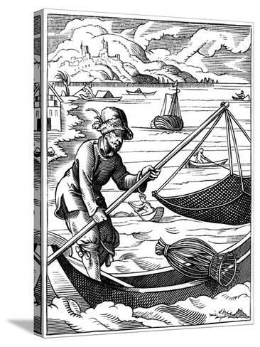 Fisherman, 16th Century-Jost Amman-Stretched Canvas Print
