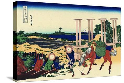 Senju, Musashi Province, (From a Series 36 Views of Mount Fuj), 1830-1833-Katsushika Hokusai-Stretched Canvas Print