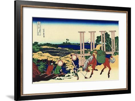 Senju, Musashi Province, (From a Series 36 Views of Mount Fuj), 1830-1833-Katsushika Hokusai-Framed Art Print