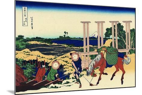 Senju, Musashi Province, (From a Series 36 Views of Mount Fuj), 1830-1833-Katsushika Hokusai-Mounted Giclee Print