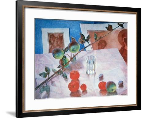 Still Life in Pink, 1918-Kuz'ma Petrov-Vodkin-Framed Art Print