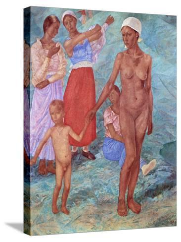 Morning, 1917-Kuz'ma Petrov-Vodkin-Stretched Canvas Print