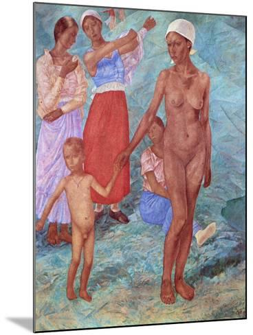 Morning, 1917-Kuz'ma Petrov-Vodkin-Mounted Giclee Print