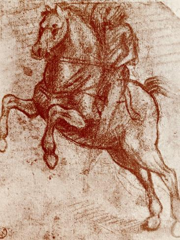 Study of a Knight, 1913-Leonardo da Vinci-Stretched Canvas Print
