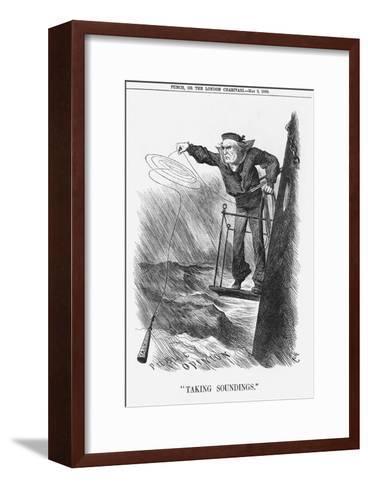 Taking Soundings, 1888-Joseph Swain-Framed Art Print