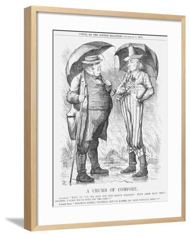A Crumb of Comfort, 1879-Joseph Swain-Framed Art Print
