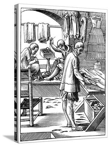 Tailor, 16th Century-Jost Amman-Stretched Canvas Print