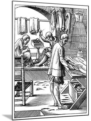 Tailor, 16th Century-Jost Amman-Mounted Giclee Print