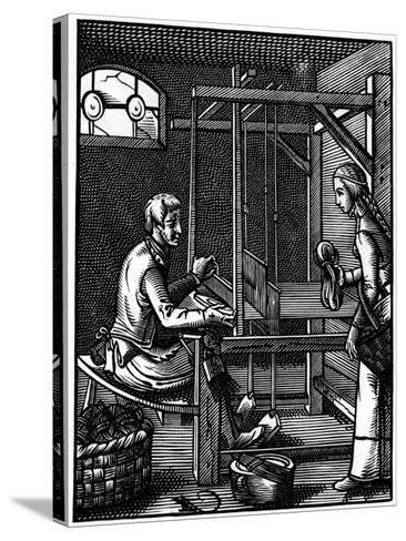Weaver, 16th Century-Jost Amman-Stretched Canvas Print