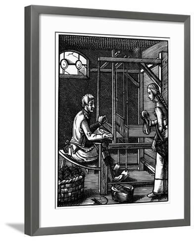 Weaver, 16th Century-Jost Amman-Framed Art Print