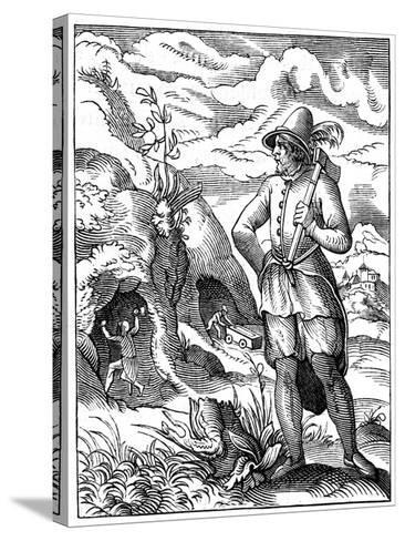 Miner, 16th Century-Jost Amman-Stretched Canvas Print