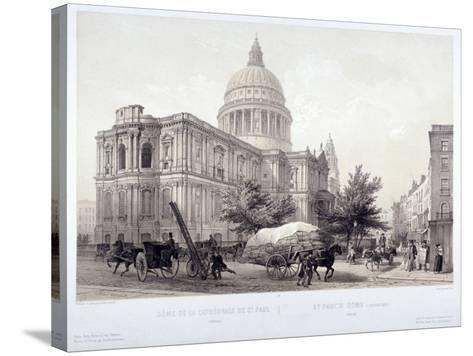 St Paul's Cathedral, London, C1855-Jules Louis Arnout-Stretched Canvas Print