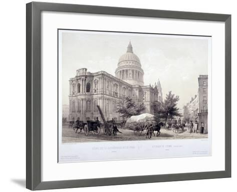 St Paul's Cathedral, London, C1855-Jules Louis Arnout-Framed Art Print