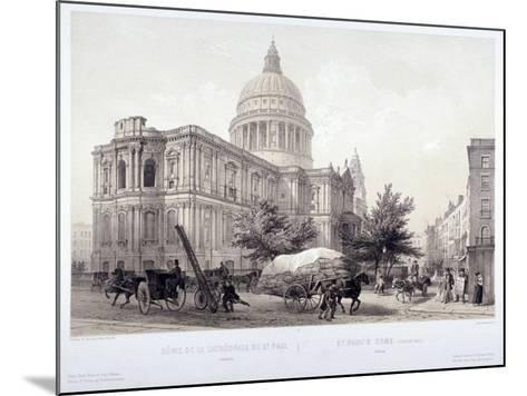 St Paul's Cathedral, London, C1855-Jules Louis Arnout-Mounted Giclee Print