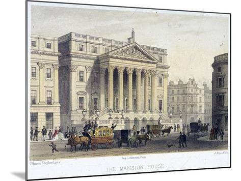Mansion House (Exterior), London, 1854-Jules Louis Arnout-Mounted Giclee Print