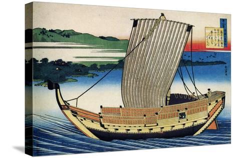 From the Series Hundred Poems by One Hundred Poets: Fujiwara No Toshiyuki, C1830-Katsushika Hokusai-Stretched Canvas Print