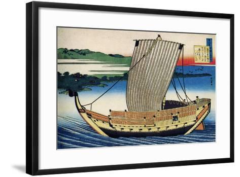 From the Series Hundred Poems by One Hundred Poets: Fujiwara No Toshiyuki, C1830-Katsushika Hokusai-Framed Art Print