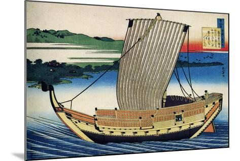 From the Series Hundred Poems by One Hundred Poets: Fujiwara No Toshiyuki, C1830-Katsushika Hokusai-Mounted Giclee Print