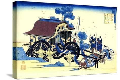 From the Series Hundred Poems by One Hundred Poets: Sugawara No Michizane, C1830-Katsushika Hokusai-Stretched Canvas Print