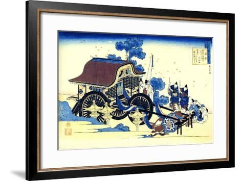 From the Series Hundred Poems by One Hundred Poets: Sugawara No Michizane, C1830-Katsushika Hokusai-Framed Art Print