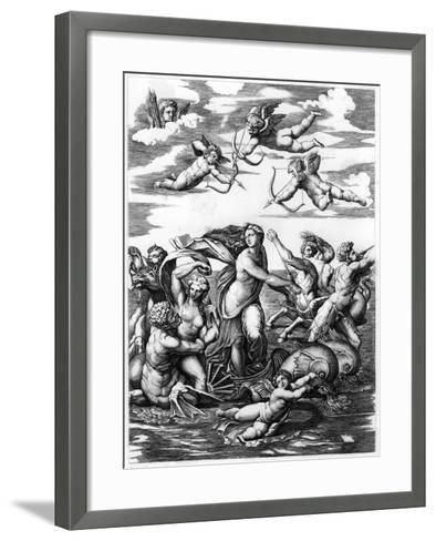 The Triumph of Galatea, 1512-L Delaistre-Framed Art Print