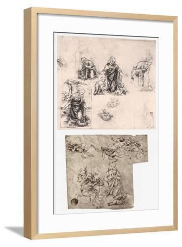 Adoration of the Child, C1483-Leonardo da Vinci-Framed Art Print