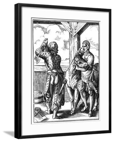 Butcher, 16th Century-Jost Amman-Framed Art Print