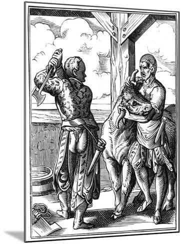 Butcher, 16th Century-Jost Amman-Mounted Giclee Print
