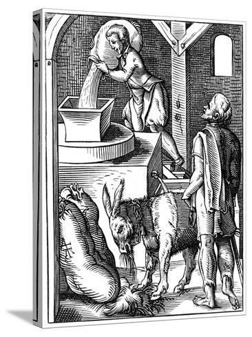 Miller, 16th Century-Jost Amman-Stretched Canvas Print