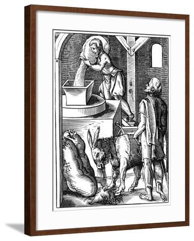 Miller, 16th Century-Jost Amman-Framed Art Print
