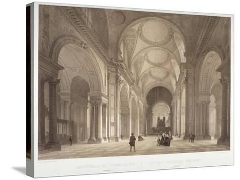 Nave of St Paul's Cathedral, Looking East Towards the Choir, City of London, 1850-Jules Louis Arnout-Stretched Canvas Print