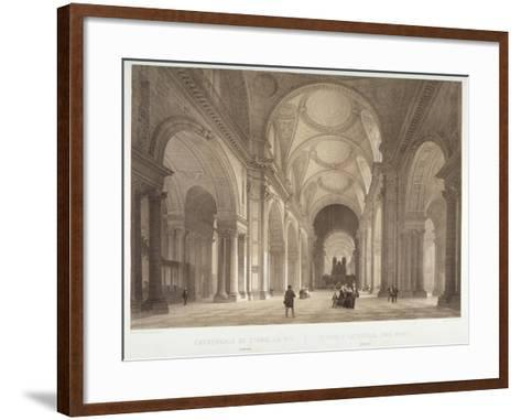 Nave of St Paul's Cathedral, Looking East Towards the Choir, City of London, 1850-Jules Louis Arnout-Framed Art Print