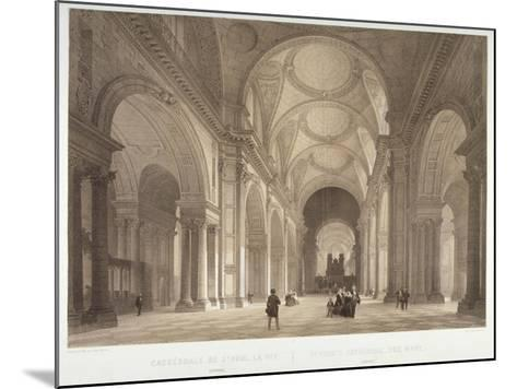 Nave of St Paul's Cathedral, Looking East Towards the Choir, City of London, 1850-Jules Louis Arnout-Mounted Giclee Print