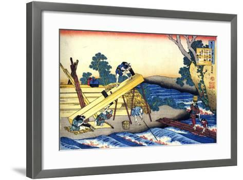 From the Series Hundred Poems by One Hundred Poets: Harumichi No Tsuraki, C1830-Katsushika Hokusai-Framed Art Print
