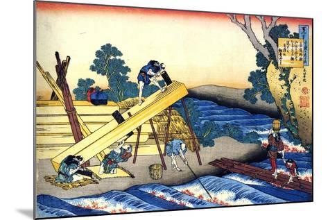 From the Series Hundred Poems by One Hundred Poets: Harumichi No Tsuraki, C1830-Katsushika Hokusai-Mounted Giclee Print