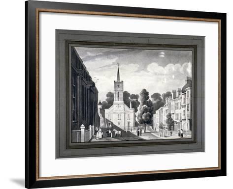 Church Row, Hampstead, London, C1830-L Garne-Framed Art Print