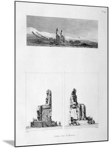 Statues of Memnon, Thebes, Egypt, C1808-L Petit-Mounted Giclee Print