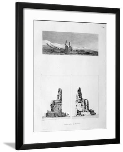 Statues of Memnon, Thebes, Egypt, C1808-L Petit-Framed Art Print