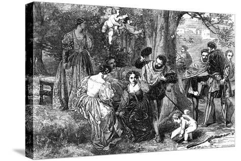 Love's Labour's Lost, 1856-Orrin Smith-Stretched Canvas Print