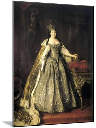 Portrait of Empress Anna Ioannovna, (1693-174), 1730-Louis Caravaque-Mounted Giclee Print