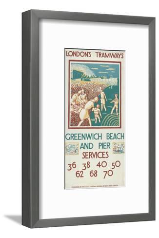 Greenwich Beach and Pier, London County Council (Lc) Tramways Poster, 1925-Morris Kestelman-Framed Art Print