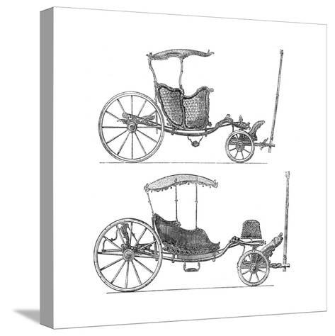 Carriages- Lucotte-Stretched Canvas Print